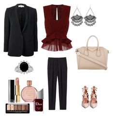 """""""Untitled #516"""" by raluca-denisat on Polyvore featuring Rebecca Taylor, Valentino, Isabel Marant, Givenchy, STELLA McCARTNEY, Chanel, Estée Lauder and Christian Dior"""