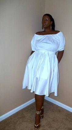 JIBRI Plus Size Off Shoulder Samantha Dress by jibrionline on Etsy, $180.00