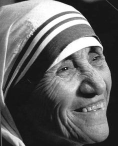 """"""" Mother Teresa Criminal Minds quote from""""Route Saint Teresa Of Calcutta, Criminal Minds Quotes, Heart Of Life, World Icon, Mother Teresa Quotes, Pope John, Catholic Saints, Jolie Photo, Mother Mary"""