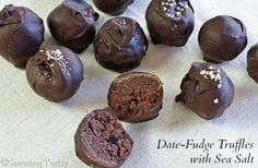 Date-Fudge Truffles with Sea Salt | Savoring Today