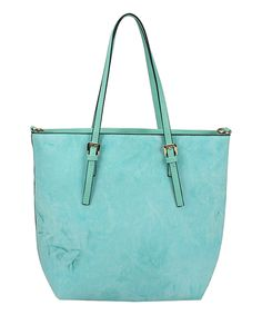 This Handbag Republic Mint Buckle-Handle Tote by Handbag Republic is perfect! #zulilyfinds
