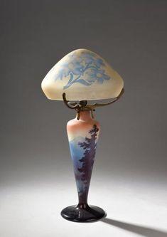 Art Nouveau, Antique Lighting, Decoration, Light Up, Chandelier, Table Lamp, Shades, Vase, Antiques