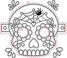 Image result for day of dead printable masks