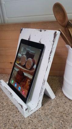 iPad Cookbook Holder by HoneyDoWoodShop on Etsy https://www.etsy.com/listing/225480242/ipad-cookbook-holder