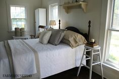 FARMHOUSE – INTERIOR – bedrooms are simple and functional.