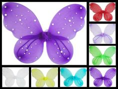 Sequin Children's Costume Butterfly Wings - Photo Prop - Pick from 7 Colors on Etsy, $5.00