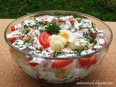 Obżarciuch: Sałatka z kalafiora i pomidorów