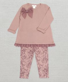 Misty Rose Toile Tunic & Leggings - Infant #zulily #zulilyfinds