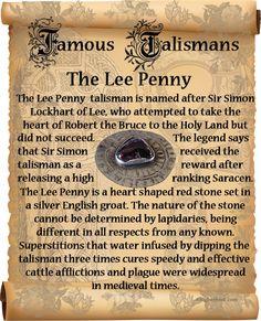 Famous Talismans - Lee Penny Talisman