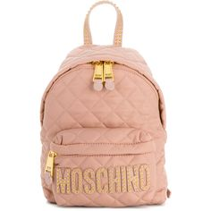 8400da5e8f48 Moschino quilted backpack (£435) ❤ liked on Polyvore featuring bags