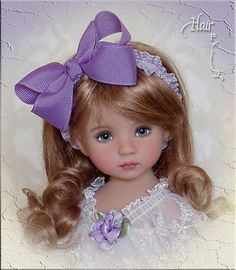 Grape-Soda-HAIR-FRILLZ-for-Effner-Little-Darling-Betsy-McCall-Wig-Size-7-8