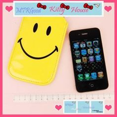 Mr Smile iPhone Leather Pouch Case iPhone 4 / 3G (Type1)