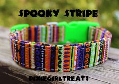 Dog Collar, Halloween Dog Collar, Pumpkin Dog Collar, Bat Dog Collar, Stripe Dog Collar, Spooky Dog Collar, Boy Dog Collar, Girl Dog Collar