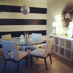 my DIY stripe wall!  See my blog for how to details!