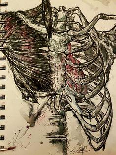 Anatomy Artwork Ink Watercolor Sketchbook 2017 By Andreas Riegger Art Watercolor Sketchbook, Ink Art, Anatomy, Pencil, Artwork, Watercolor, Work Of Art, Anatomy Reference, Tattoo Art
