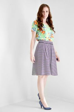 Melissa Esplin's tutorial for this super cute skirt.  Make in jersey or woven for two different looks!