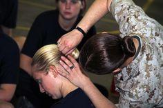 Female Military Hair Sock Bun Instructions