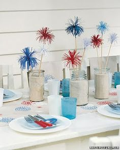 4th of July Table Sparkler Craft