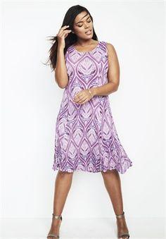 Plus Size Short Crinkle Dress