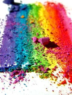 colorful crushed chalk