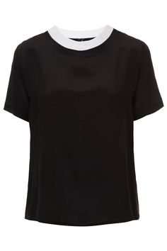 Rib Neck Silk Tee By Boutique