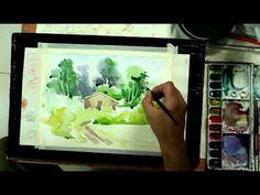 Sikander Art demonstration Watercolor Landscape