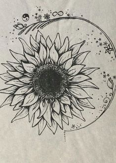 beautiful flower tattoo idea