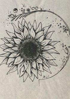 beautiful flower tattoo idea