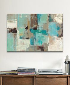 Look at this Teal & Aqua Reflections Gallery-Wrapped Canvas on #zulily today!