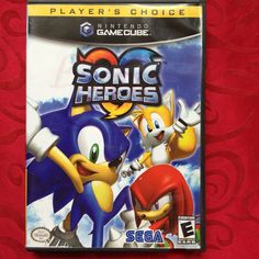 Sonic Heroes Nintendo GameCube Players Choice also plays on Wii -Fast Shipping!!