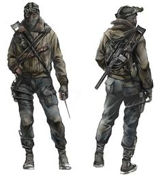View an image titled 'Stalker Concept Art' in our Metro 2033 art gallery featuring official character designs, concept art, and promo pictures. Metro 2033, Metro Last Light, Apocalypse Survivor, Apocalypse Art, Apocalypse Costume, Mad Max, Character Concept, Character Art, Apocalypse Character