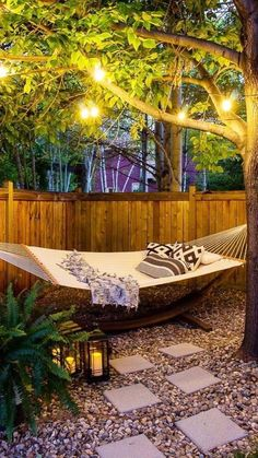 Backyard Hammock, Hammocks, Patio Hammock Ideas, Cozy Backyard, Backyard Patio Designs, Patio Ideas, Patio Decorating Ideas On A Budget, Diy Patio, Porch Decorating