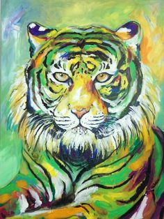 #Tiger #Acrylic Melanie Geis