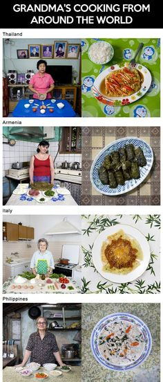 Grandma's cooking from around the world…
