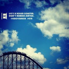 """""""No inspirational quote needed"""" - ENJOYOURIDE  Life's a roller coaster. Don't remain seated. @ENJOYOURIDE #EYR  Photo credit: @robinpeeters"""