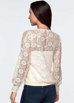 Lace drawstring top by VENUS