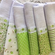 kit 6 panos de prato barrinhas combinadas verde Fabric Crafts, Sewing Crafts, Sewing Projects, Diy Projects, Hand Towels, Tea Towels, Luxury Bedspreads, Decorative Towels, Inexpensive Gift
