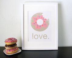 love. pink donut. cute & simple