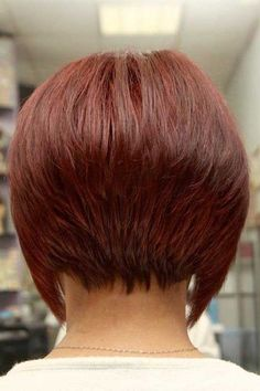 35 Exceptional Wedge Haircut Ideas Back View of Bob Hairstyle 2 Back View of Bob Hairstyle Beauty Wedge Hairstyles on Pintere. Bob Haircuts For Women, Short Bob Haircuts, Short Hair Cuts For Women, Short Hairstyles For Women, Short Hair Styles, Trendy Haircuts, Haircut Short, Swing Bob Haircut, Inverted Bob Hairstyles