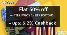 Get flat 50% off on mens fashion clothing footwear and accessories at Zovi fashion  get upto 5.2% extra cashback from us >> http://ift.tt/1S7BcC0  #fashion #menfashion #zovi #clothing #tees #polos #shirts #cashback #cashbackoffers #zovicashback