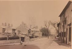 Looking up Hollow Lane towards Mobberley Road (St Cross Church in background)