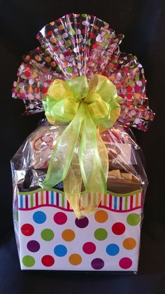 Easter gift basket with balloon small large available 1495 large box gift box with various gourmet treats get well happy negle Gallery