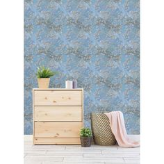 Hand Painted Blooming Trees Peel and Stick Wallpaper (25