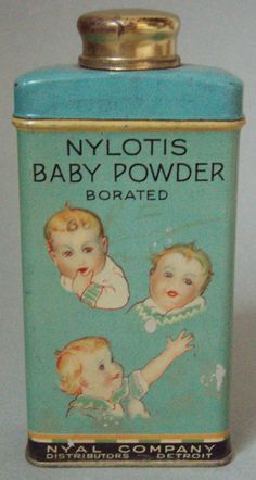 VERY NICE NYLOTIS BABY POWDER ADVERTISING TIN, FULL, EXCELLENT PLUS CONDITION picclick.com