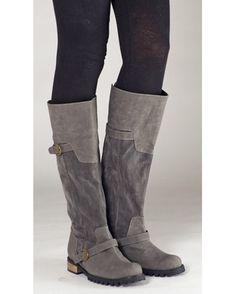 CRI DE COEUR  VEGAN RUGGED KNEE HIGH BUCKLE BOOTS  #vegan #vegan fashion #boots