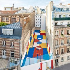 Domus - Pigalle and Ill Studio, basketball court in Paris, 2015....