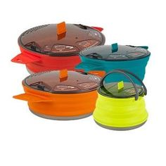 Collapsible camping pots and pans