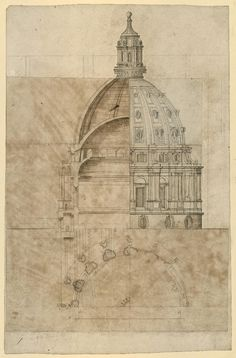Wren's designs for St. Paul's Cathedral