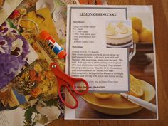 How to scrapbook a recipe book.  Love this!
