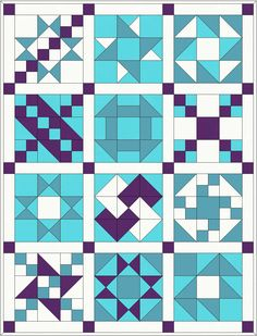 Traditional Patchwork Quilt Pattern and Tutorial (Part Here is the first part of the patchwork tutorial to make this quilt top. The finished size is approximately x I have chosen four colours to make my quilt but if you want a more… Sampler quilt, full Tutorial Patchwork, Patchwork Quilt Patterns, Barn Quilt Patterns, Pattern Blocks, Quilting Patterns, Patchwork Designs, Barn Quilt Designs, Quilting Designs, Traditional Quilt Patterns